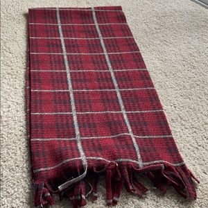 Firenze Red Plaid Scarf